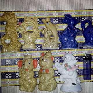 Paket 8 patung keramik kecil