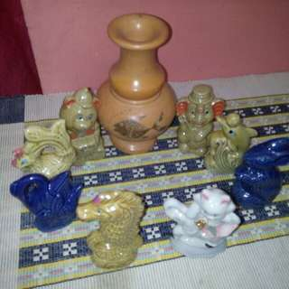 Paket 8 keramik dan vas bunga