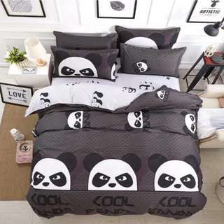 Premium Character Bed Sheet 4 in 1 Set (Panda K3)