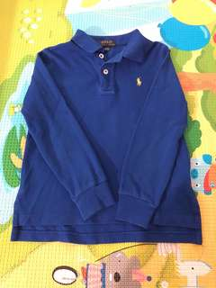 Polo Ralph Lauren Royal Blue Long Sleeve Polo TShirt 4T
