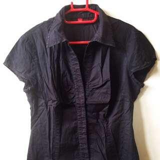 Kemeja Esprit hitam you can see