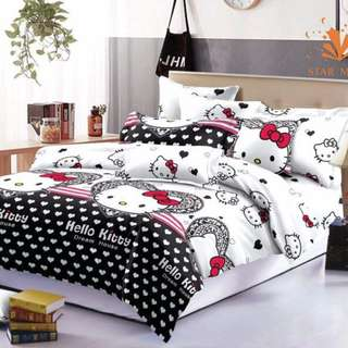 Premium Character Bed Sheet 4 in 1 Set (Hello Kitty K1)