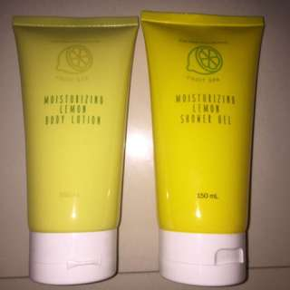 Moisturizing Lemon Body Lotion and Shower Gel