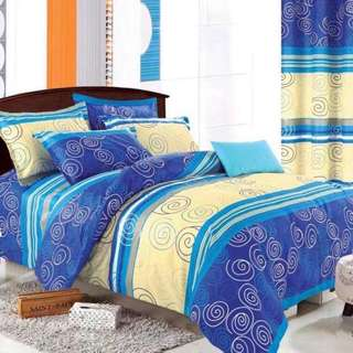 Pattern Cotton Bed Sheet 4 in 1 Set (Pattern N6)
