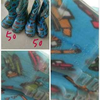小童雨靴水鞋 rain boot 每對50元