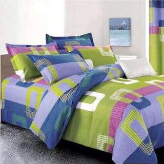 Pattern Cotton Bed Sheet 4 in 1 Set (Pattern N2)