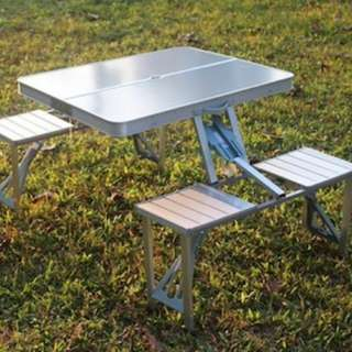 Aluminum Folding Picnic Table All-in-One