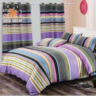 Premium Pattern Cotton Bed Sheet 4 in 1 Set (Pattern 6 R6)
