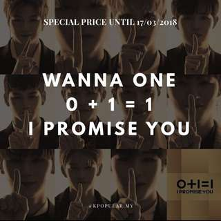 "WANNA ONE - I PROMISE YOU "" 0+1=0 """