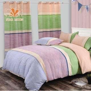 Premium Pattern Cotton Bed Sheet 4 in 1 Set (Pattern R2)