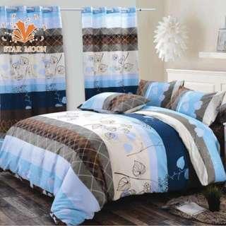 Premium Pattern Cotton Bed Sheet 4 in 1 Set (Pattern R1)
