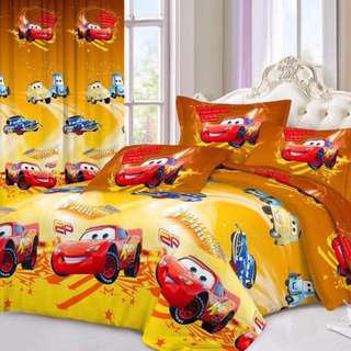 Premium Character Bed Sheet 4 in 1 Set (Cars C11) 5D