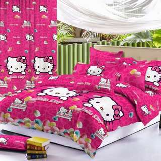 Premium Character Bed Sheet 4 in 1 Set (Hello Kitty C9) 5D