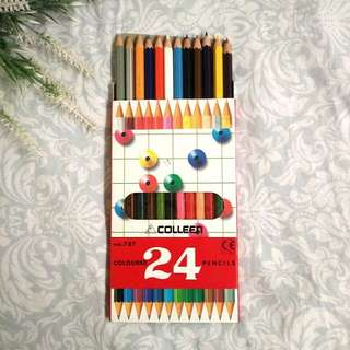 24 Colors Colleen Coloured Pencils