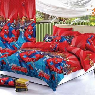Premium Character Bed Sheet 4 in 1 Set (Spiderman C5) 5D