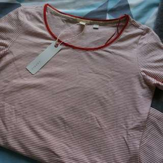 Striped red tee
