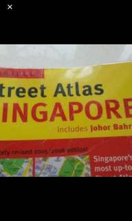 Preloved Map Of Singapore Atlas 2005 Edition in good condition