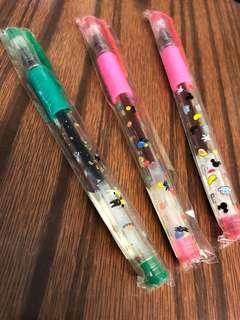 全新Gaspard et Lisa/ Mickey Mouse墨水筆(購自日本) 20蚊3支 包平郵