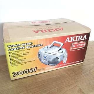 Akira VCD/CD Radio Cassette Recorder