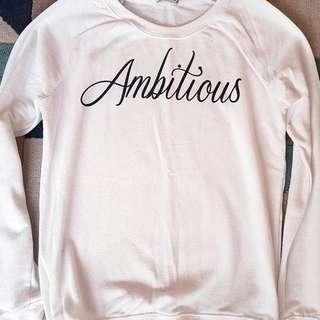 Bershka white sweatshirt