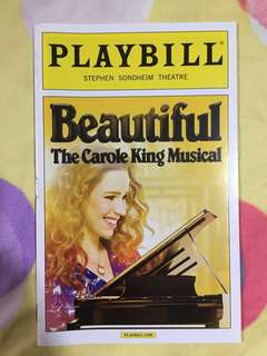 PLAYBILL: Beautiful: The Carole King Musical (Chilina Kennedy, 2015)