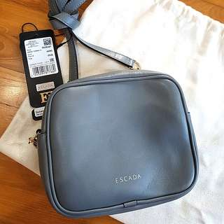 New Escada Women's Full Leather Crossbody Sling Bag (Steel Blue and Brown Available)