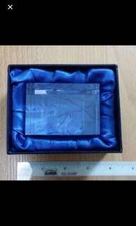 Brand New In Box Crystal Like Bursa Saham Kuala Lumpur Paper Weight