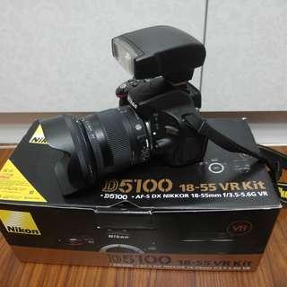 【出售】Nikon D5100 數位單眼相機 國祥公司貨 9成新(快門數只有4千左右)