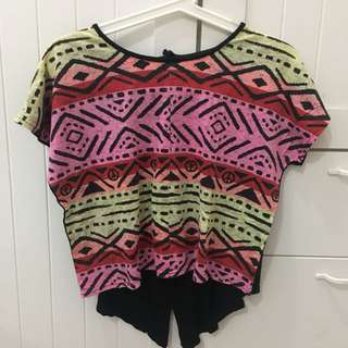 NEON TRIBAL TSHIRT