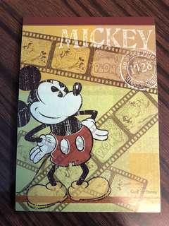全新Mickey Mouse A6 Memo/筆記簿(購自日本) 共80頁 包平郵