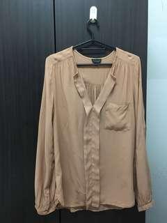 Topshop viscose blouse top shirt