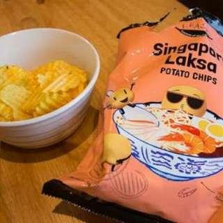 Snack Impor Laksa Singapore Hainanese Chicken Rice Potato Chips