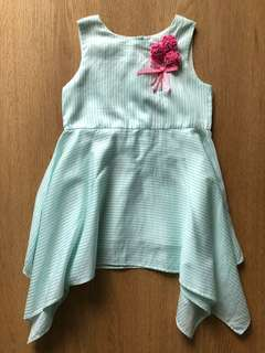 Stripe Mint Dress (Size 2t)