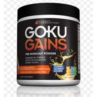 Goku Gains Pre Workout Supplement