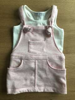 Gingersnaps Tiny Pink Jumper & White Sando Set (Size 6)
