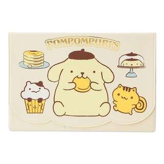Sanrio 日本正版 Pompompurin 布甸狗 布丁狗 卡包 証件包 護照夾