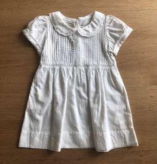 Baby Club by Rustans Plain White Dress (9-12 Mos)