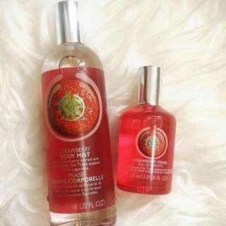"New!!! Paket Hemat The Body Shop ""Strawberry"""