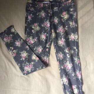 Forever21 Floral Printed Trousers
