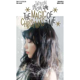 [Preorder] Taeyeon Special Live - The Magic of Christmas Time DVD