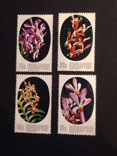 SINGAPORE 1976 ORCHIDS, SET OF MNH STAMPS x4 PCS!!!