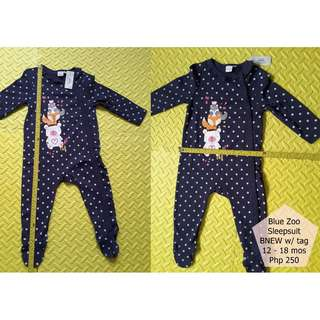 Blue Zoo Sleepsuit BNEW w/ tag