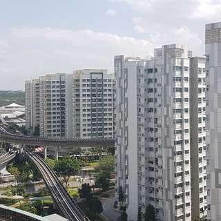 4rm HDB High floor with balcony opposite MRT