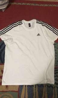 Adidas 3 striped shirt