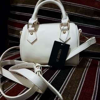 Authentic Forever 21 Small White Bag