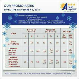 Provincial shipping rate