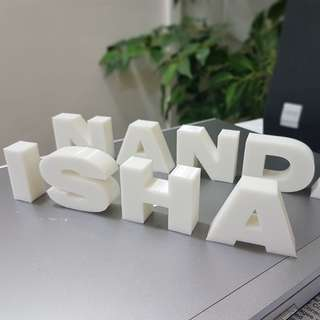 3D print letters / Alphabets