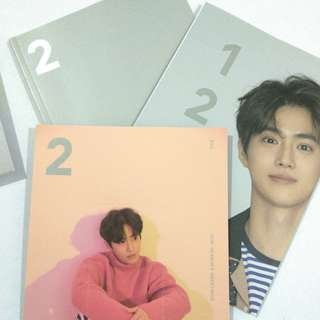 EXO SUHO 2018 SEASON GREETING MONTHLY PLANNER PHOTOCARD BROMIDE