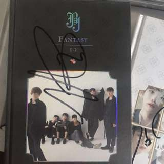JBJ HYUNBIN SIGNED MWAVE ALBUM BLACK PRODUCE 101