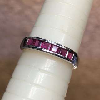 14kt white gold Ruby ring